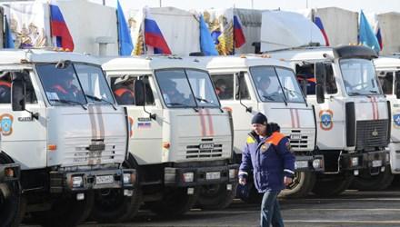 Đoàn xe nhân đạo thứ 40 của Nga sang Ukraine
