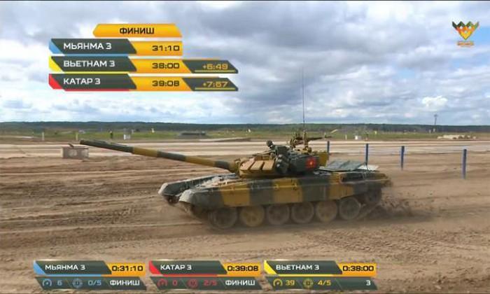 Đội tuyển xe tăng Việt Nam về nhì trong trận thi đấu thứ 3 tại Army
