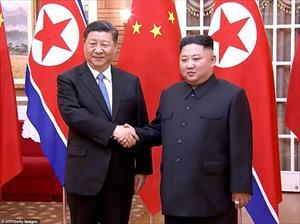 Ảnh: Triều Tiên rợp trời cờ hoa chào đón Chủ tịch Trung Quốc