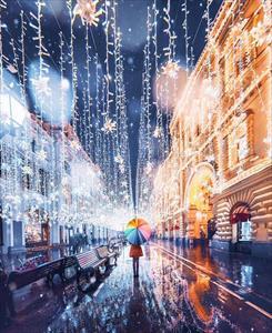 Vẻ đẹp như bước ra từ cổ tích của thủ đô Nga vào mùa đông