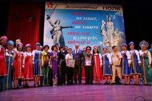 """Tin ảnh: """"Trung đoàn bất tử"""" lần đầu tiên được tổ chức tại Hà Nội"""