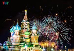Ảnh: Nước Nga tưng bừng chào đón năm mới 2019