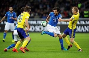 Bị Thụy Điển cầm hòa, tuyển Ý lần đầu vắng mặt ở World Cup sau 60 năm