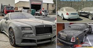 Nhiều xe siêu sang Rolls-Royce bị bỏ rơi đến phủ bụi kín mít tại Dubai