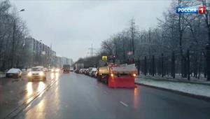 Moskva: Nhiệt độ không khí dao động, đường trơn, dễ xảy ra tai nạn