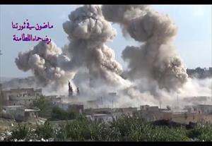 Nga ném bom nhiệt áp san phẳng trận địa phiến quân thánh chiến Syria (video)