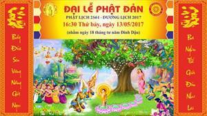 Thông bạch Đại lễ Phật Đản Phật Lịch 2561 - Dương lịch 2017 tại Niệm Phật Đường Matxcơva