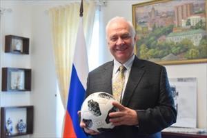 Đại sứ Nga ủng hộ Việt Nam giành suất dự World Cup 2022