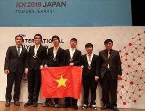 4 học sinh Việt giành Huy chương Vàng Olympic Tin học quốc tế 2018