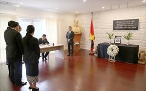 Lễ viếng và mở sổ tang nguyên Tổng Bí thư Đỗ Mười tại Australia