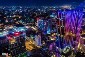 Đêm Sài Gòn đẹp rực rỡ nhìn từ trên cao