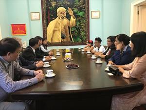 """Gặp mặt các em học sinh đoạt giải cuộc thi """"Em vẽ Việt Nam, em vẽ nước Nga"""""""
