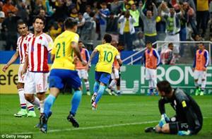 Neymar lập siêu phẩm giúp Brazil trở thành đội bóng đầu tiên dự World Cup 2018