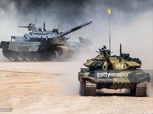 """Xe tăng T-72B3 của Nga """"thử lửa"""" tại cuộc tập trận Zapad"""