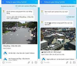 TP Hồ Chí Minh đưa camera giao thông lên Zalo để người dân tra đường