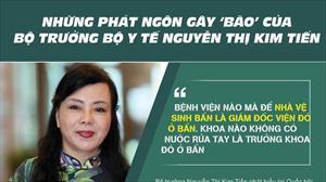 """Những phát ngôn """"dậy sóng"""" của Bộ trưởng Y tế Nguyễn Thị Kim Tiến"""