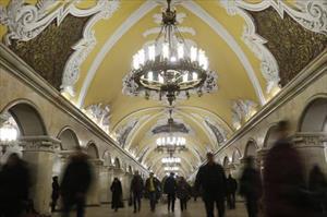 Ảnh: Vẻ đẹp ngỡ ngàng của tuyệt tác ga tàu điện ngầm Moscow (Nga)