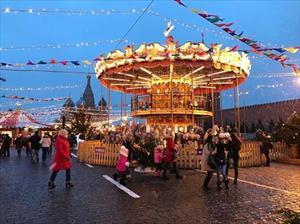 Hình ảnh thủ đô Moscow tưng bừng chào đón năm mới