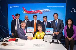 Vietjet ký hợp đồng gần 13 tỷ USD mua 100 máy bay của Boeing