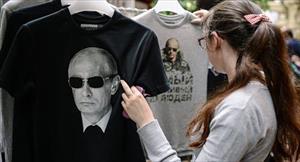 Phát T-shirt in hình Tổng thống Nga tại New York