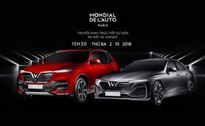 VinFast ra mắt xe tại Paris Motor Show 2018