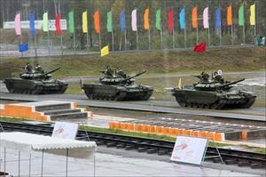 Hoành tráng Ngày Chiến sĩ xe tăng của Quân đội Nga