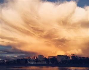 Đám mây kỳ bí phủ kín thủ đô nước Nga