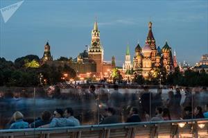 Cảnh quan ngoạn mục của công viên mới mở ở thủ đô Moscow của Nga
