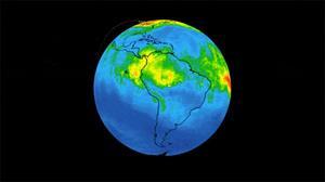 Cháy rừng Amazon, khí CO phủ đỏ bản đồ của NASA