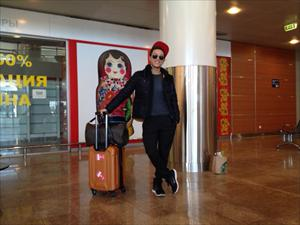 Ca sĩ trẻ Mai Tiến Dũng đã có mặt ở Moscow