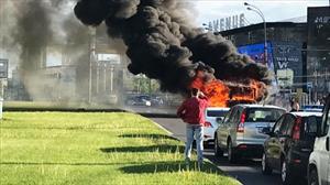 Moskva: Cháy xe buýt  ở khu Tây Nam thành phố