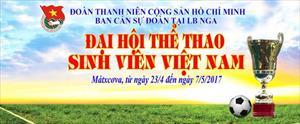 Kế hoạch tổ chức Đại hội thể thao sinh viên Việt Nam tại Mátxcơva - Hè 2017