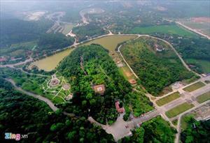 Đền Hùng nhìn từ độ cao 500 m