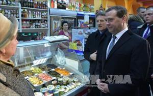 Thủ tướng Nga bảo vệ chính sách thả nổi đồng ruble