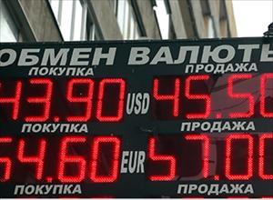 Nga: Tỷ giá ngoại tệ giảm mạnh