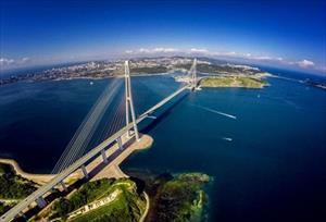 Ấn tượng với cây cầu dây văng dài nhất thế giới tại Nga