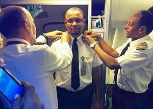 Anh nhân viên quét dọn máy bay trở thành cơ trưởng