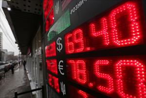 Nga: Đôla đạt đỉnh 69 rúp/ USD