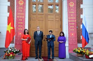 Đại sứ quán Việt Nam tại LB Nga trang trọng kỷ niệm 73 năm Quốc khánh Việt Nam
