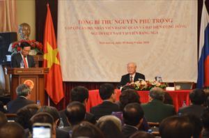 Tin ảnh: TBT Nguyễn Phú Trọng thăm ĐSQ VN và cộng đồng người Việt tại LB Nga