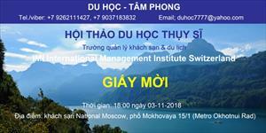 Du học Thụy Sỹ ngành quản lý khách sạn và du lịch - Phần 3: Trường quản lí khách sạn IMI International Management Institute