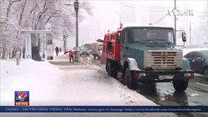 Tuyết rơi kỷ lục tại Moskva, Nga
