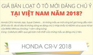 Giá bán loạt ô tô mới đáng chú ý tại Việt Nam năm 2018?