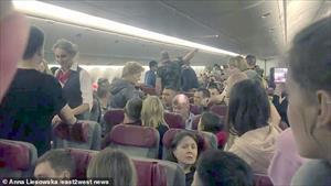 Hành khách Nga làm loạn, máy bay hạ cánh khẩn