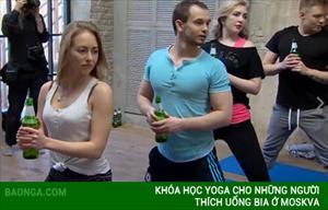 Khóa học Yoga cho những người thích uống bia ở Moskva