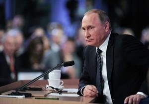 Ảnh toàn cảnh họp báo thường niên của Tổng thống Nga Putin