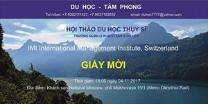 Du học Tâm Phong: Đôi điều trao đổi về du học Thụy Sĩ ngành quản lý khách sạn