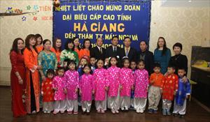 TTMN Thần Đồng Á-Âu vinh dự đón đồng chí Triệu Tài Vinh, Ủy viên TW Đảng cùng các lãnh đạo cấp cao tỉnh Hà Giang đến thăm