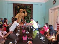 """Đoàn nghệ sĩ  """"TÔI YÊU VIỆT NAM – 2013"""" thăm Đại sứ quán Việt Nam tại Liên bang Nga"""