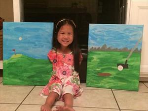 Bé gái không tay gốc Việt vẽ tranh ở Mỹ